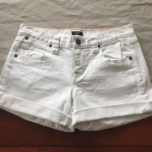 J. Crew white denim shorts
